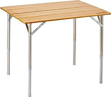CAMPZ Bamboo Folding Table 80x60x65cm, Brown 2019 Mesas de Camping: Amazon.es: Deportes y aire libre