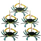 Chesapeake Bay Maryland Blue Crab Christmas Ornament Set of 5