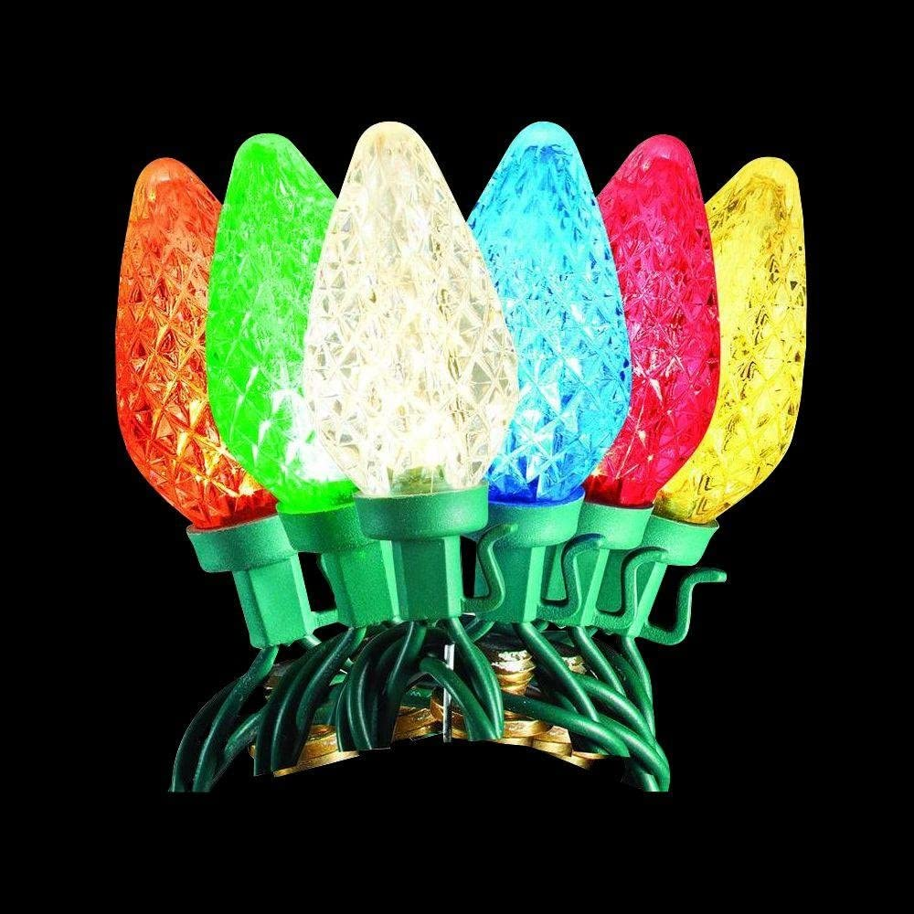 50-Light LED C9 2-Function Warm White to Multi-Color Changing Light Set