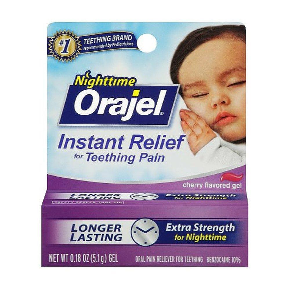amazoncom orajel baby nighttime formula teething pain relief gel 018 oz pack of 2 oral pain relief medications grocery u0026 gourmet food
