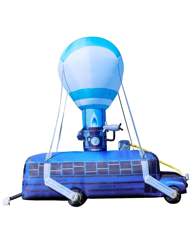 amazon com spirit halloween fortnite 17 5 ft battle bus inflatable garden outdoor - fortnite bus drop sound