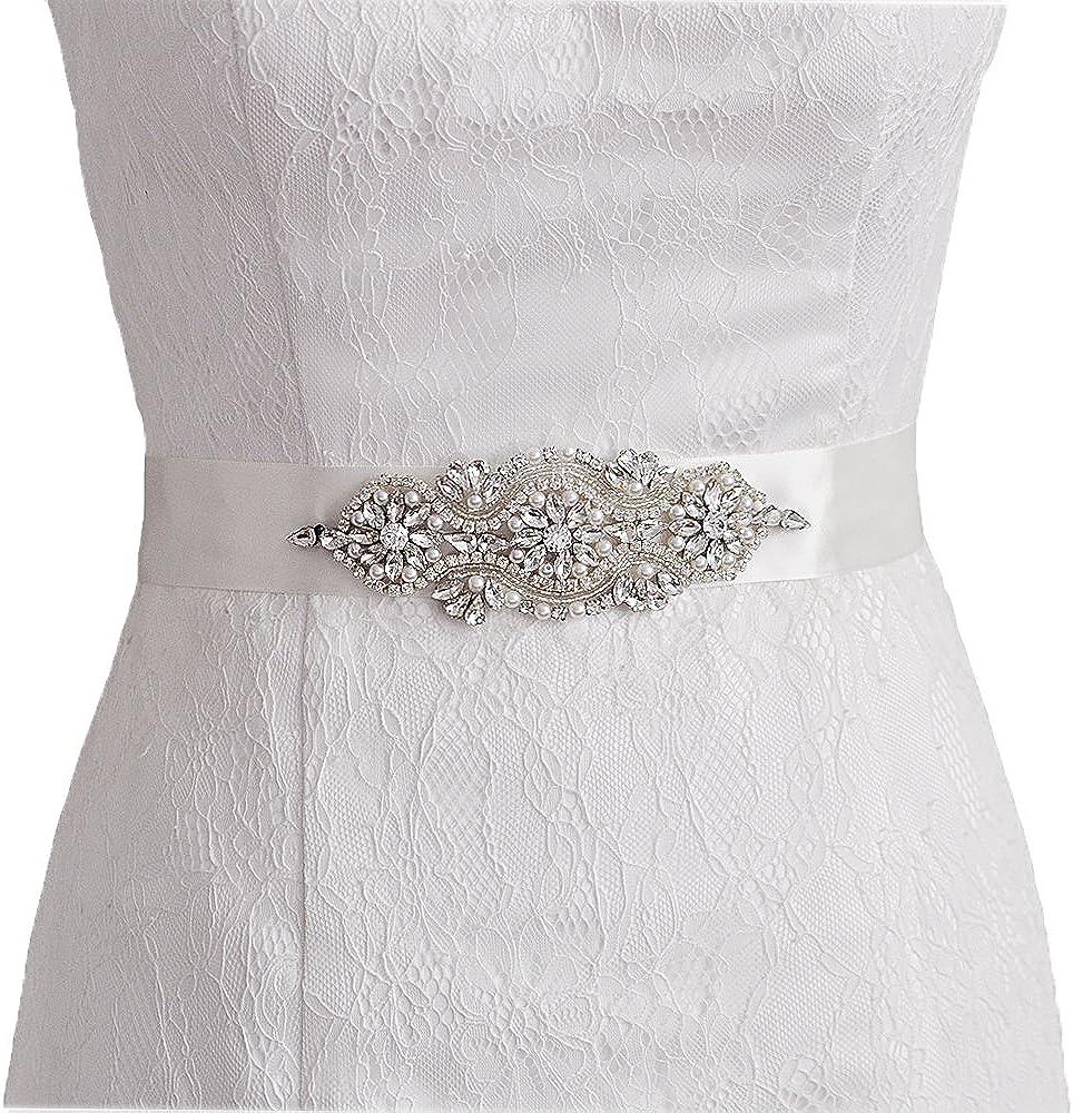 Azaleas Womens Crystal Bridal Sash Belts Wedding Belt Sashes for Wedding Dress