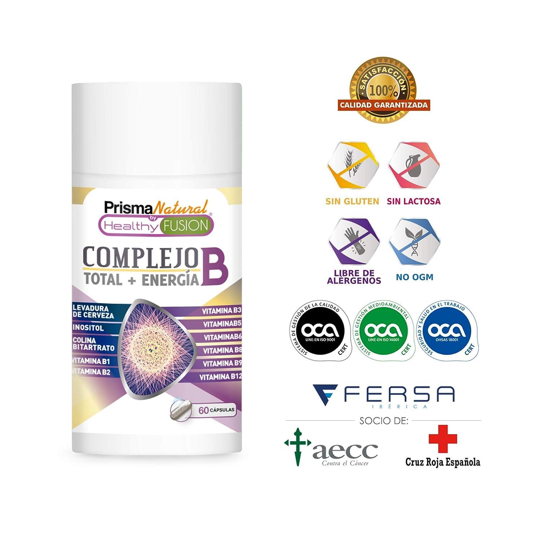 Potente y Completo Complejo B - Vitaminas B1, B2, B3, B5, B6, B9 y B12 – Fortalece el Sistema Inmunológico – Aporta Energía – Protege el ...