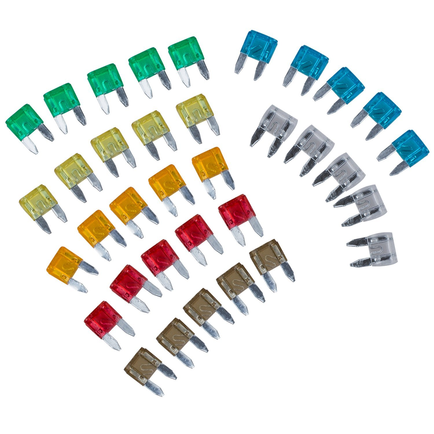 SODIAL(R) 14536 35 Piece Mixed Mini Blade Fuse Auto Car Motorbike