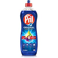 Pril Dishwashing Liquid - Blue (1 Litre), with 5+ Self-Degreasing Action Power, Long-Lasting Formula for Stains Removal…