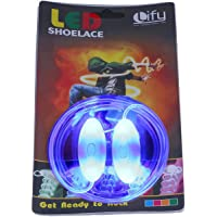 Lify Waterproof Luminous LED Shoelaces Fashion Light Up Casual Sneaker Shoe Laces Disco Party Night Glowing Shoe Strings - 1 Pair