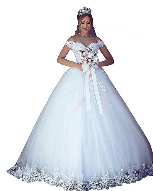 Changjie Mujeres Vestidos de novia A-line sweet Apliques de encaje 2018: Amazon.es: Ropa y accesorios