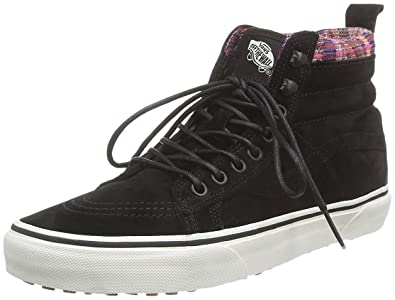 7b433ebf2cfa7 Vans SK8-Hi MTE Black Woven Chevron Womens High Top Sneakers (3.5 Mens