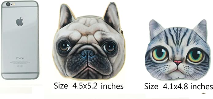 Clutch Dream Zipper Coin Pouch Dog Design Pets Pug Stuff Dog Pug Canvas Coin Pouch Positive Message Coin Bag Make Up Pouch