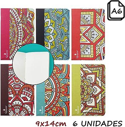 Quijote Paper World Pack 6 Libretas, Cuadernos, Interior Liso ...