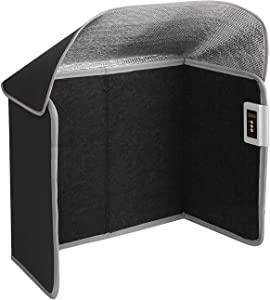 Livtribe Space Heater, Foldable Foot Warmer with Timer & Overheat & Tip-Over Protection, Portable Panel Heater for Office and Home (Black)