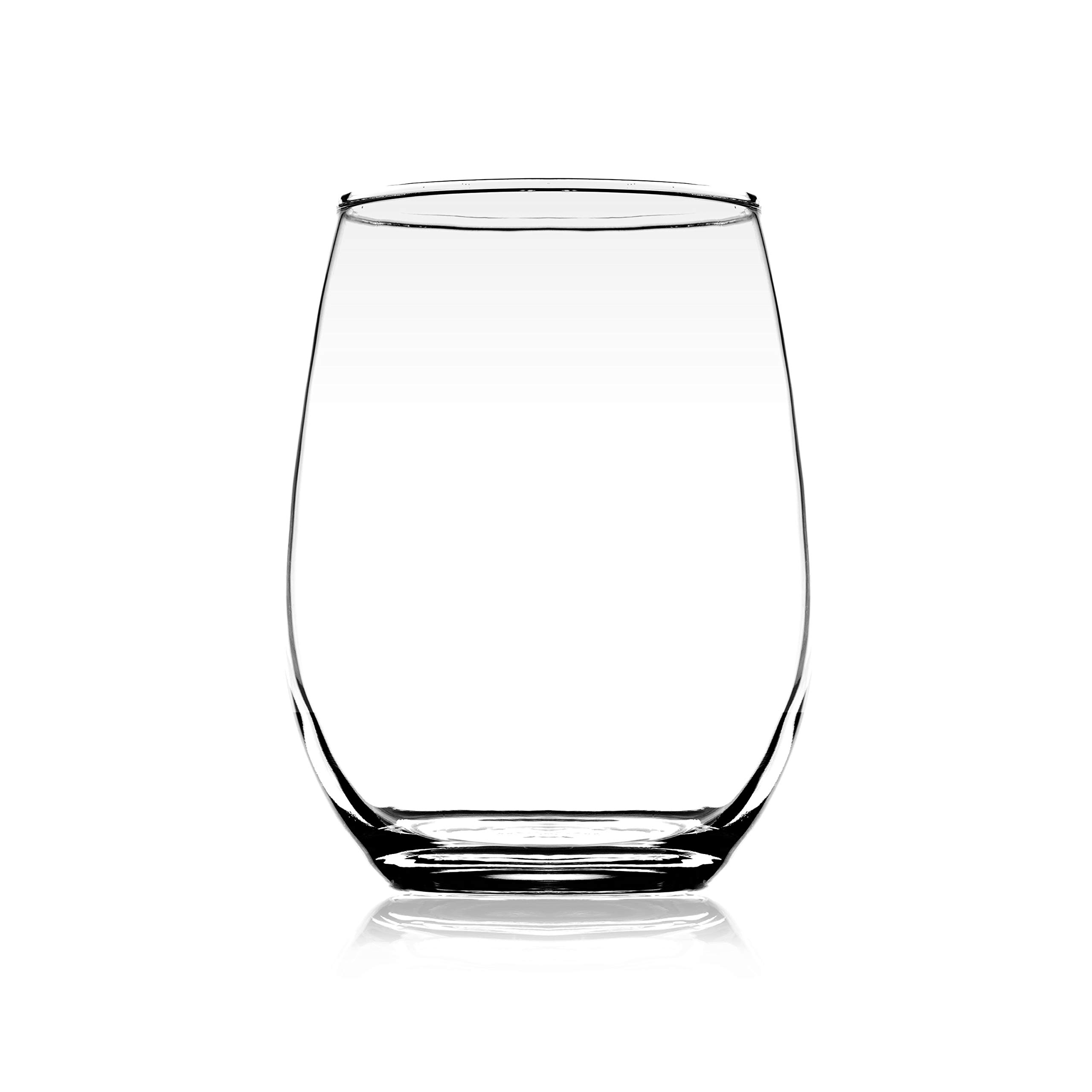 Element Drinkware Stemless Wine Glass 20oz Great For White Or Red Wine - Large Size Durable Chip Resistant Rim Wine Tumbler Premium Drinking Cups Great Gift for Wine Lovers or Crafters - Bulk Set of 6 by Element Drinkware (Image #7)