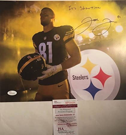 f6685b0fc0f Autographed Jesse James Signed Pittsburgh Steelers 11x14 Photo It's  Showtime - JSA Certified