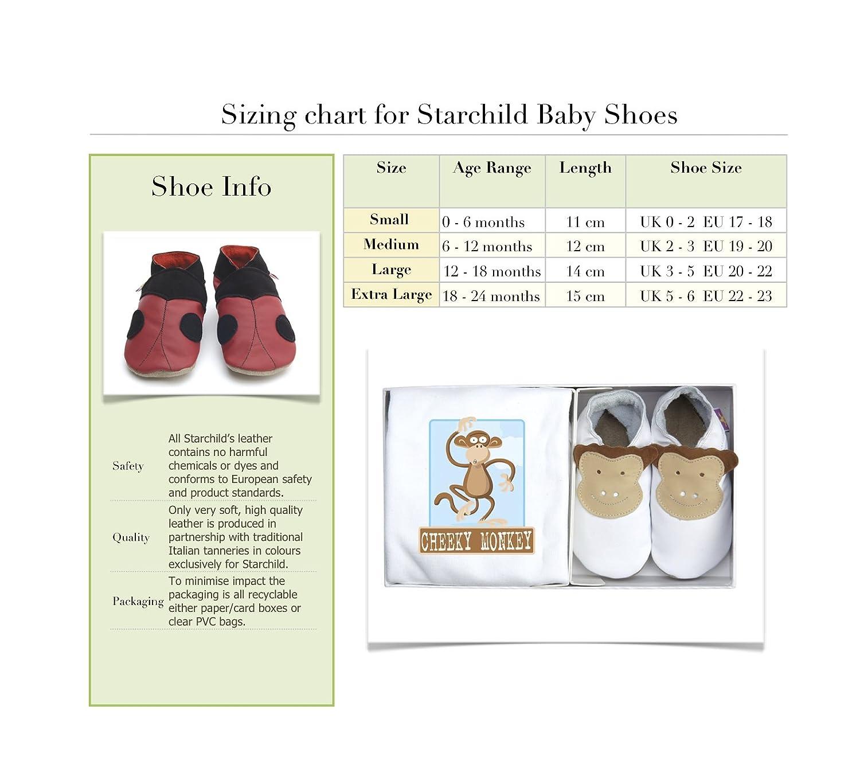 Starchild Poppy Soft Leather Baby Shoes Medium 6 12 months Amazon