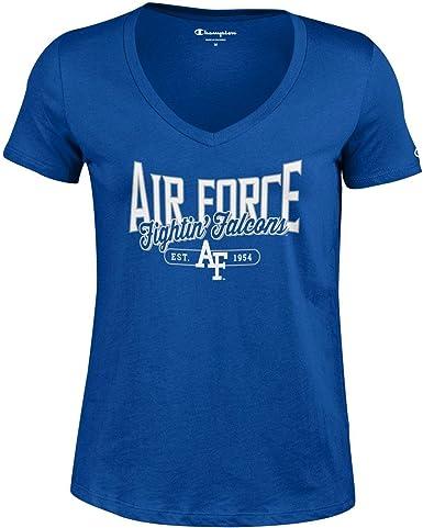 Large Champion NCAA Illinois Illini Girls Short Sleeve Scoop Neck T-Shirt Navy Heather