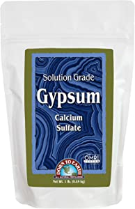 Down to Earth OMRI Organic Solution Grade Gypsum, 1 lb