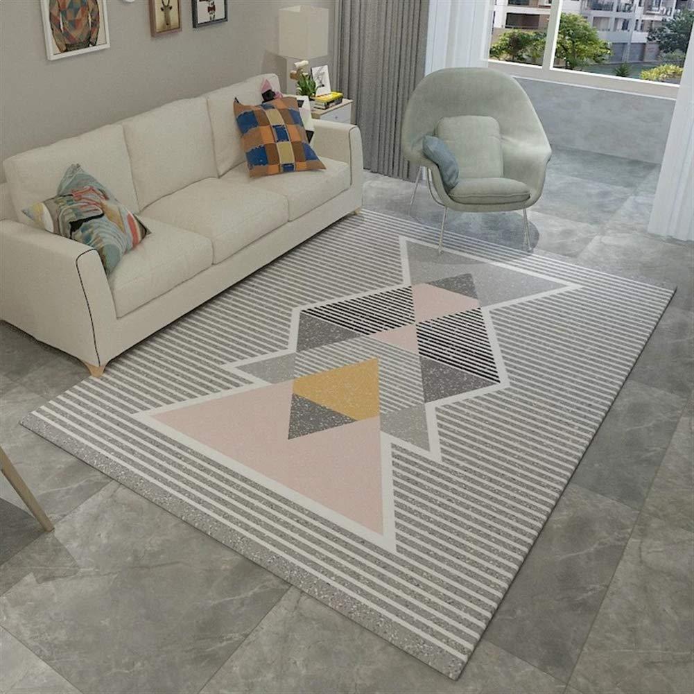 Liveinu Modern Teppich Teppich Teppich mit Anti-Rutsch Unterstützung Abwaschbarer Kurzflor Teppich Geometrisch Fußmatten für Wohnzimmer, Esszimmer, Schlafzimmer oder Kinderzimmer 120x160cm B07GGPPH34 Teppiche f79b6a