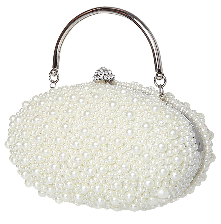 Belsen Goose Pearl Clutch Bag Prom Handbag Beaded Evening Bag