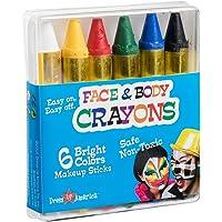 Dress Up America Gezichtsverf 6 Kleur Crayon - Kleur Gezichtsverf Ultimate Party Pack
