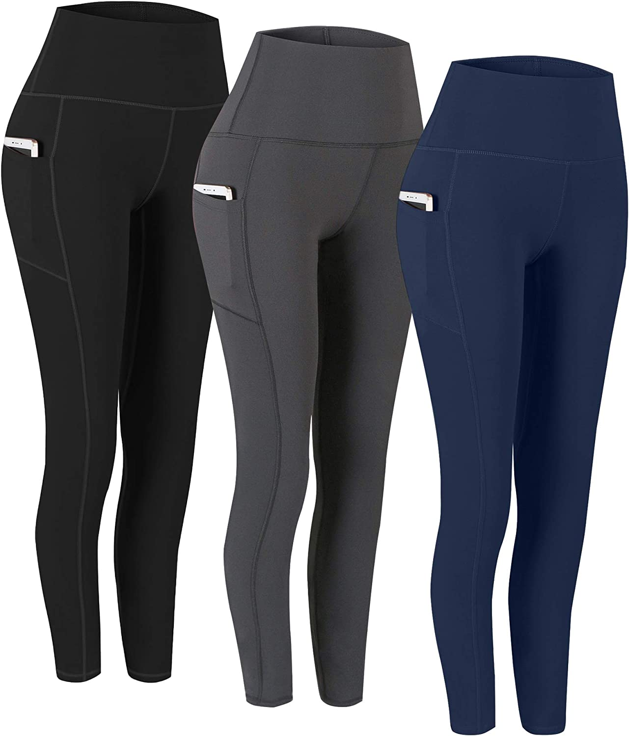 Pocket Yoga Pants Tummy Control Workout Running 4 Way Stretch Yoga Leggings Fengbay 2 Pack High Waist Yoga Pants