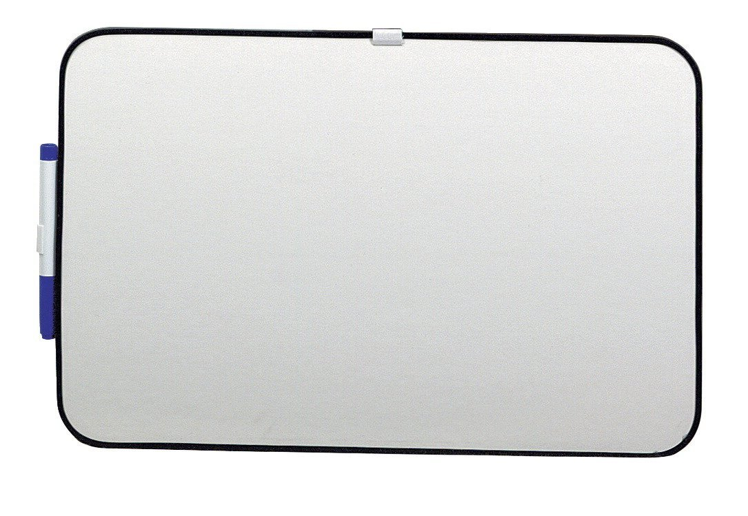 School Smart 633746 Dry Erase Boards with Black Frame - 11 x 17 - White