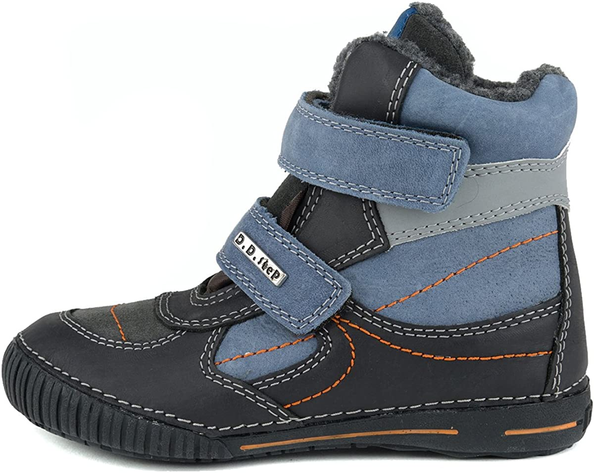 Black and Blue 036-30 Step Boys Insulated Boots D D Genuine Leather