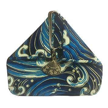 VORCOOL Mini Monedero de Estilo japonés Pequeño Bolso de triángulo portátil Billetera de Bolsillo Hebilla Diseño