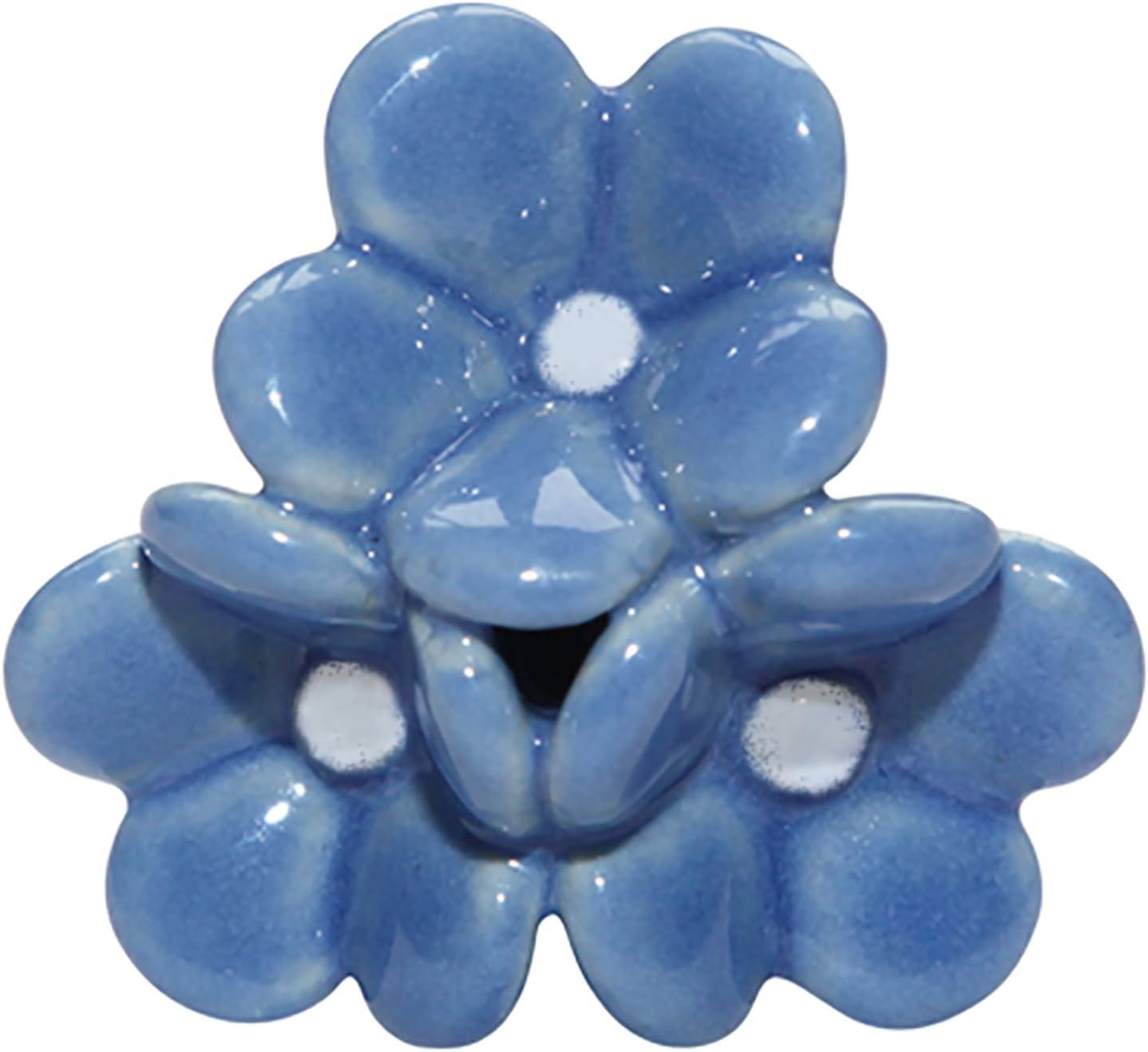 Bombay Duck JLL060X pomo para puerta para arreglos florales de cer/ámica Azul 6 unidades