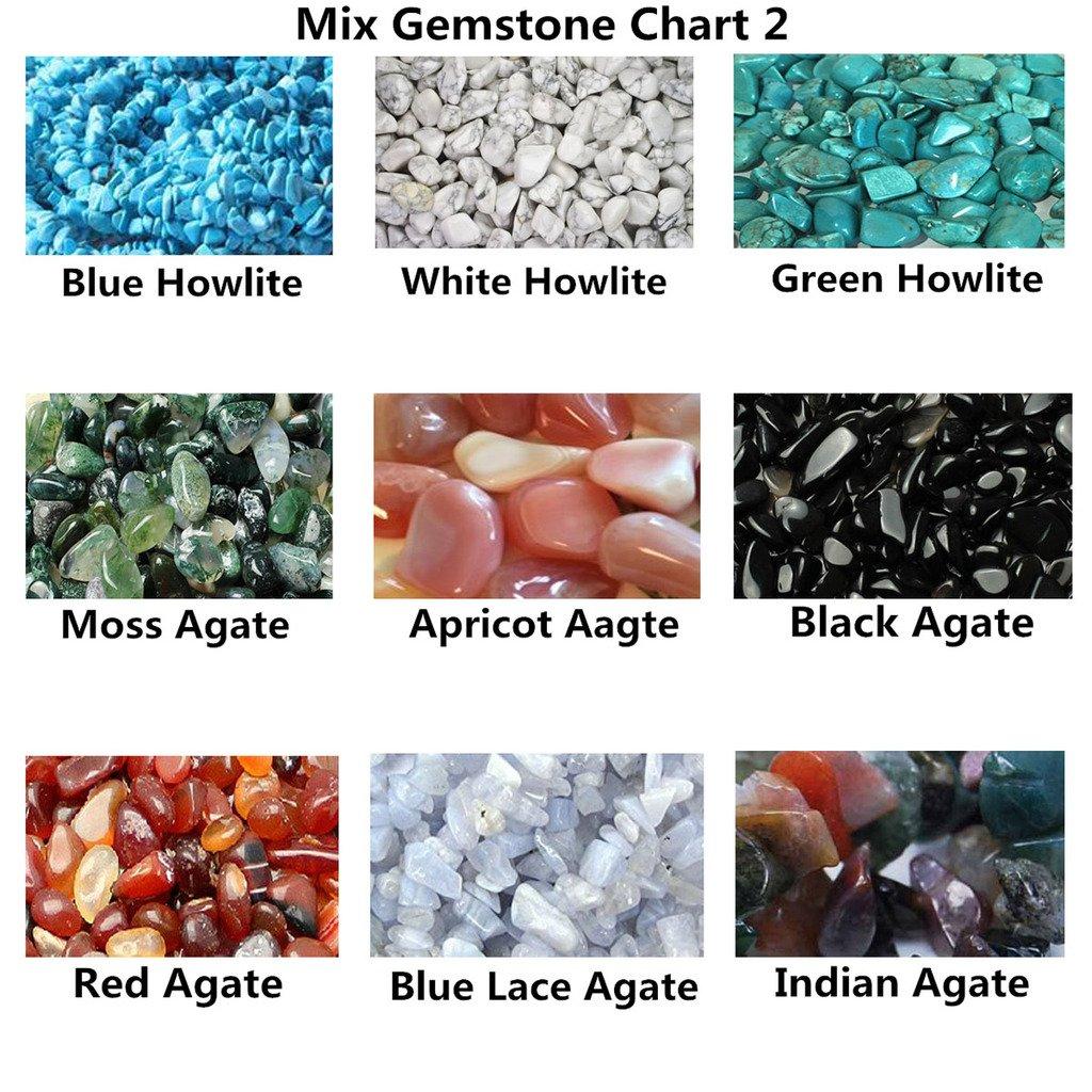 QGEM 18pcs Mini Gemstones CHAKRA KIT Healing Balancing Set for Collectors, Crystal & Reiki Healers and Yoga Practioner