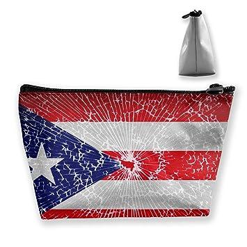c85f840b2c14 Amazon.com : Casual Make Up Bag Travel Bag, Puerto Rico Flag Tie Dye ...