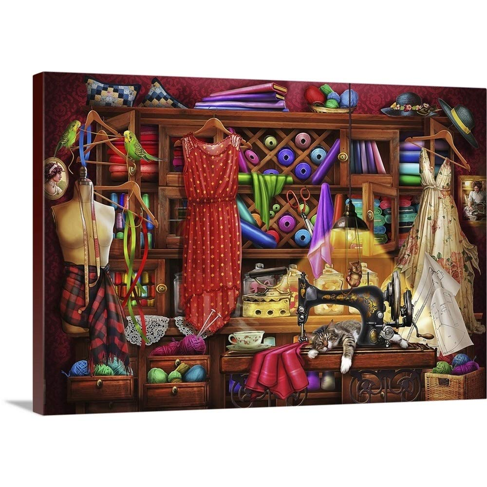 Gallery-Wrapped Canvas Entitled Ye Olde Craft Room by Ciro Marchetti 36''x26''