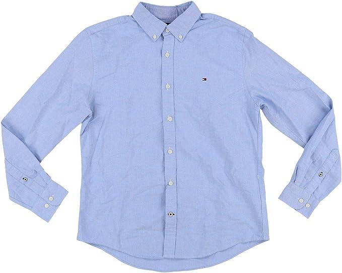 Tommy Hilfiger Camisa de manga larga con botones para hombre - Azul - X-Large: Amazon.es: Ropa y accesorios
