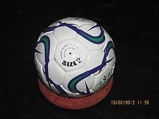 10x Ballon de futsal en cuir PU blanc taille 2