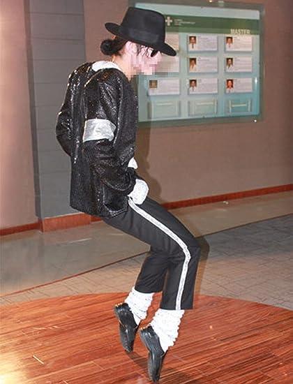 Michael Jackson Disfraz Billie Jean Jacket 5 Pcs- Chaqueta, Pantalones, Sombrero, Guante