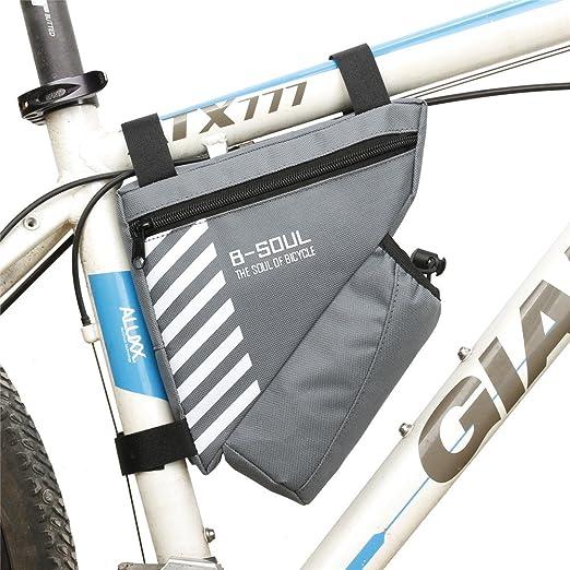 Paquete de cuadro de bicicleta Bolsa de sillín de bicicleta ...