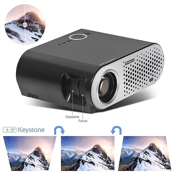 vivib Right de proyector gp90 Nueva versión mejorada + 20% más ...