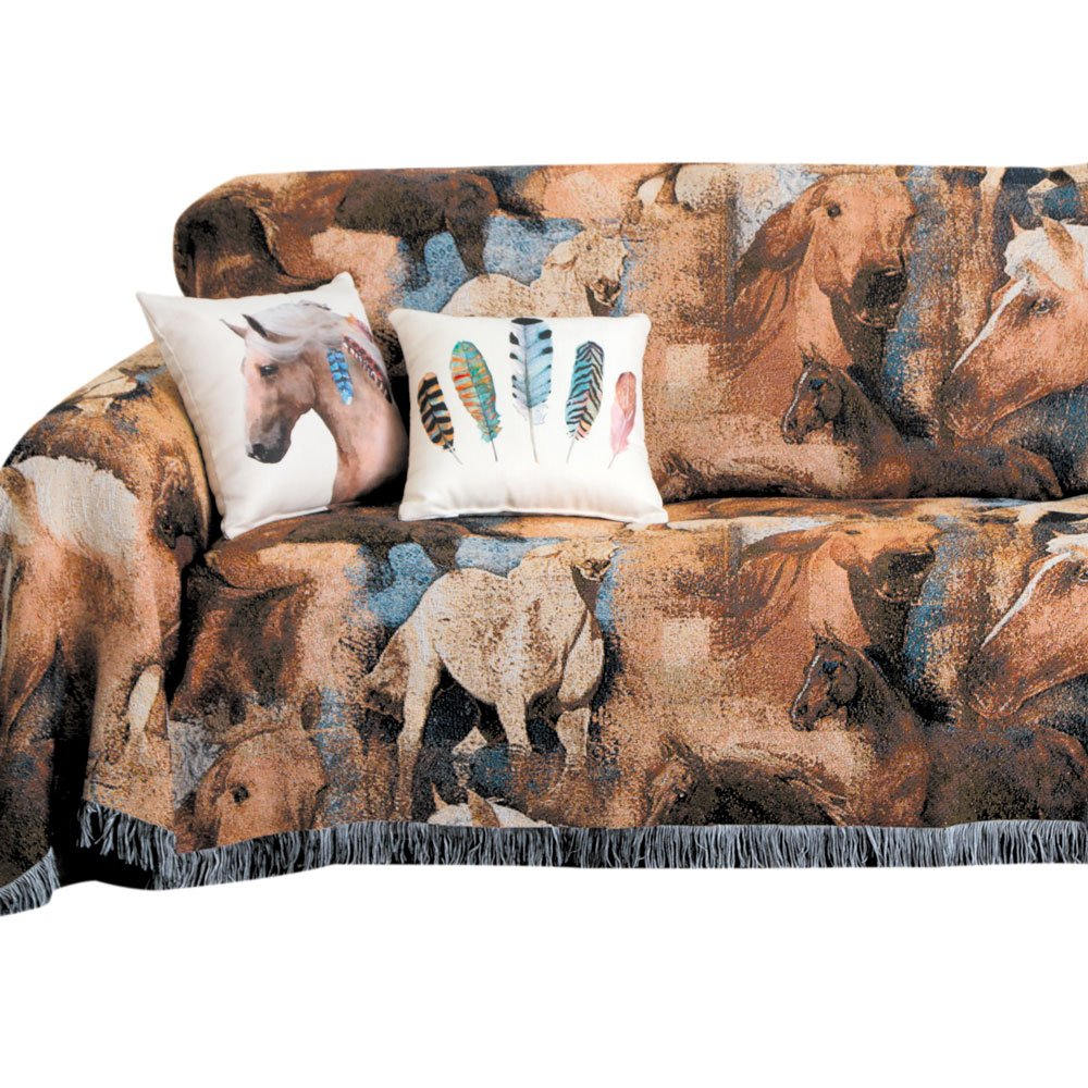Rods Wild Horses Furniture Throw, Sofa