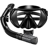 Mpow Snorkel Mask, Scuba Diving Mask for Snorkeling Diving Swimming, Easy Breath Scuba Snorkeling Gear with Silicon Mouth Piece and Easy Adjustable Strap