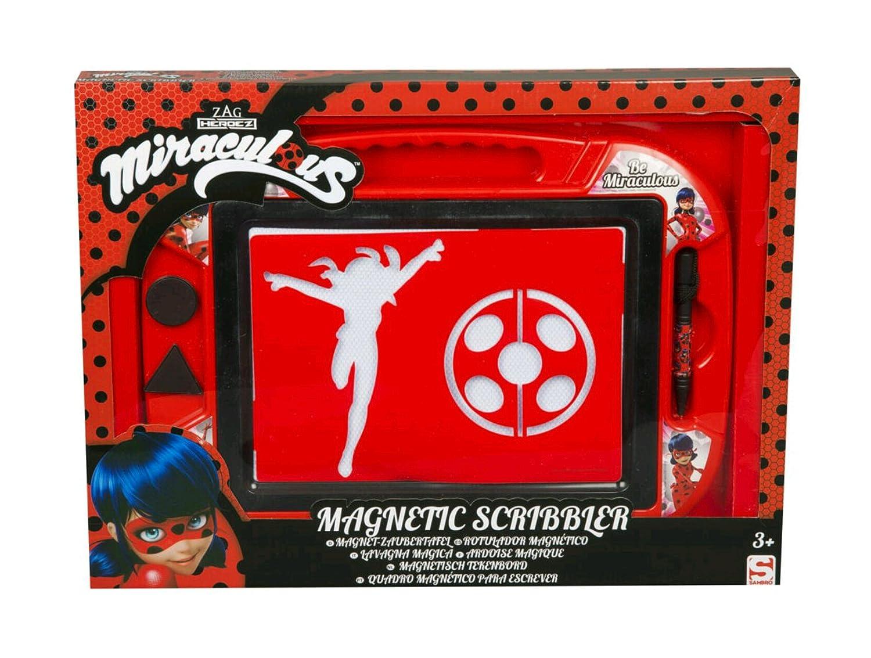 Sambro- Miraculous Ladybag Pizarra Magnética, Color Rojo (4222MLB)