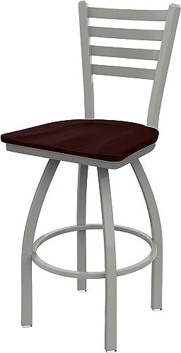 Holland Bar Stool Co. 41030ANDCOak 410 Jackie Swivel Bar Stool, 30 Seat Height, Dark Cherry Oak