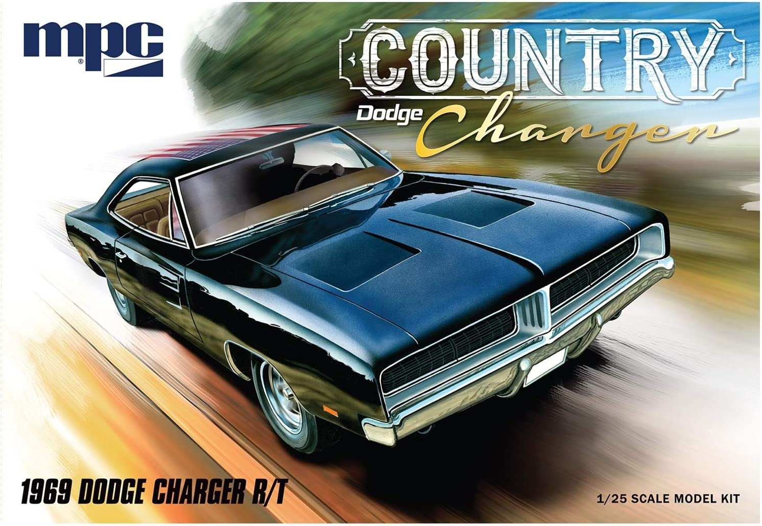 1969 Dodge Charger R//T Country 1:25 MPC Model Kit Bausatz MPC878