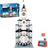 Spaceship Building Set City Space Rocket Ship Toys with Launch Control Center & Mini Astronaut (309PCS)