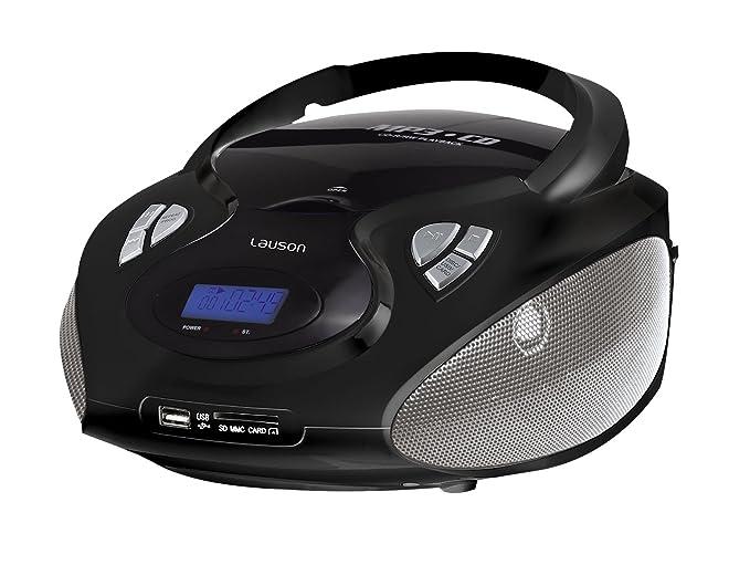 64 opinioni per Lauson CP435, CD Portatile Lettore USB Radio AM / FM Mp3 USB SD-Card, con AUX IN