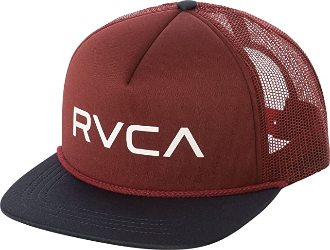 05c6e157 Image Unavailable. Image not available for. Color: RVCA Foamy Trucker  Snapback Hat Burgundy Navy Blue