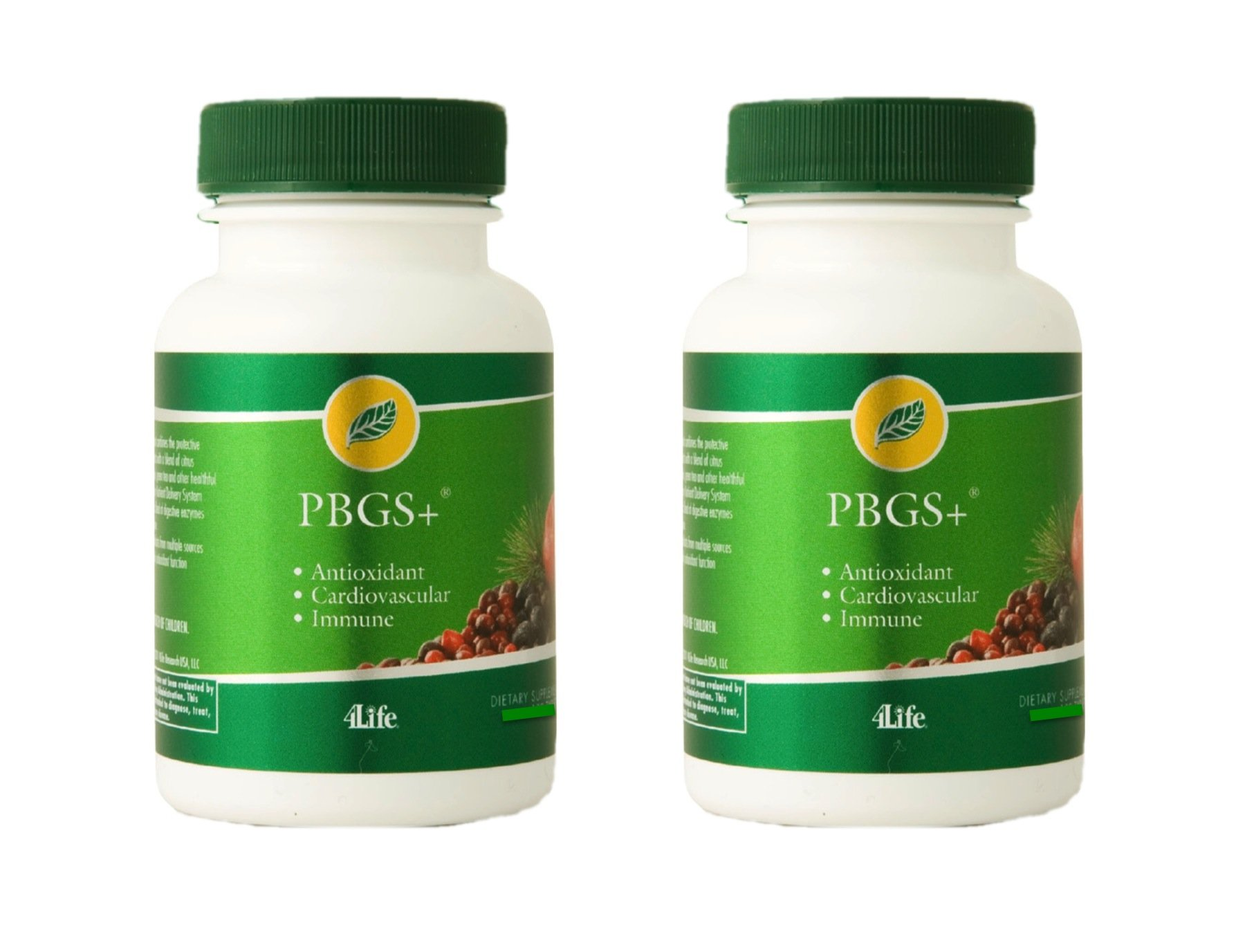 4life PBGS Antioxidant combination of pinebark and grapeseed extracts 60 capsules each (pack of 2)
