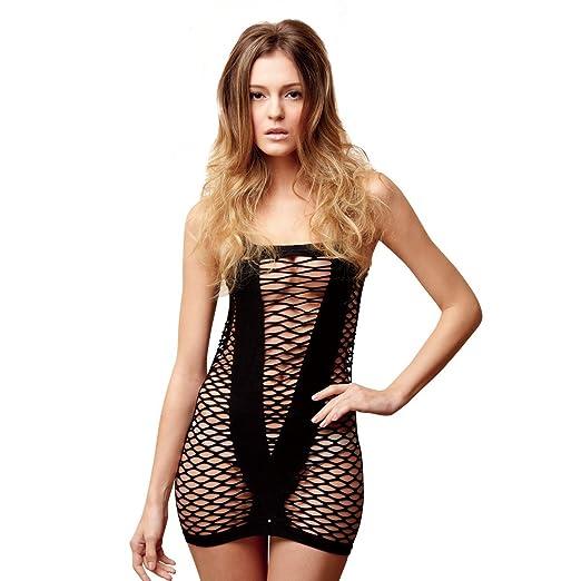 f487e0ef34f Image Unavailable. Image not available for. Color  SpotLight Hosiery  Women s Seamless Diamond Net Mini Dress ...