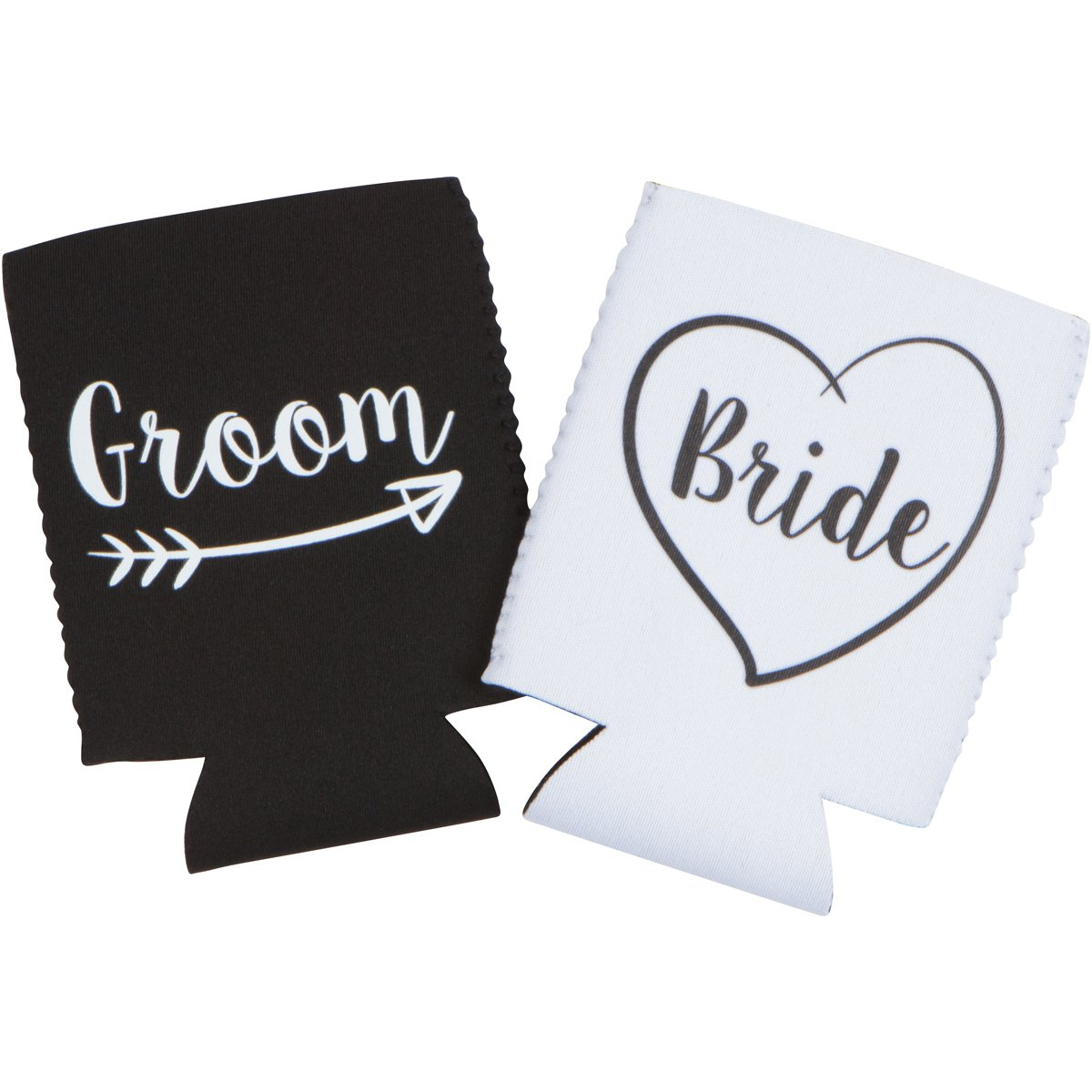 Cute Wedding Gifts - Bride and Groom Novelty Can Cooler Combo - Engagement Gift for Couples by The Plympton Company (Image #2)