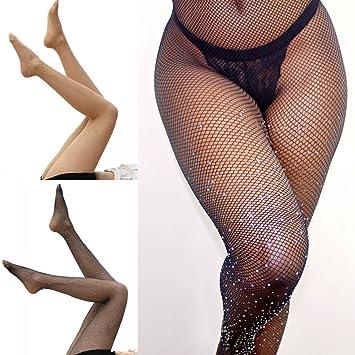 e3c7340a359 Greencolourful Sexy Sequin Mesh Long Socks Leggings Thigh-Highs Fishnet  Stockings Tights (Black)