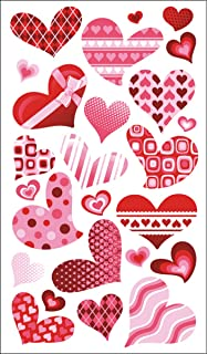 sticko funky hearts stickers - Valentines Day Stickers