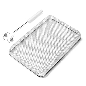 Snowy Fox Flying Insect Screen - RV Water Heater Screen Stainless Steel Mesh Cover - Installation Tool Included, Fit Atwood 6/10 Gallon, Suburban 6 Gallon Water Heater Vents, Size: 6 x 8.5 x 1.3inch